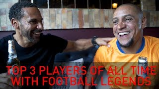 Top 3 Footballers of all Time! With Figo, Drogba, Roberto Carlos & Park Ji-sung | Rio Vlogs