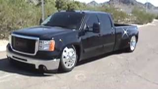 Bagged 2008 GMC Dually Dragging On The Frame