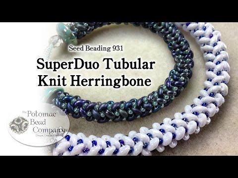 Seed Beading 931 - SuperDuo Tubular Knit Herringbone