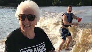 TRICK SHOT BATTLE: GRANDMA VS. 3 YEAR-OLD 🎯  | Ross Smith