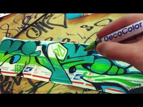 Green Feen Graffiti Sticker Speed Art