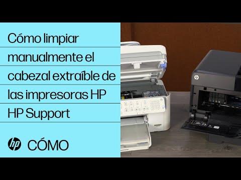 Cómo limpiar manualmente el cabezal extraíble de las impresoras HP