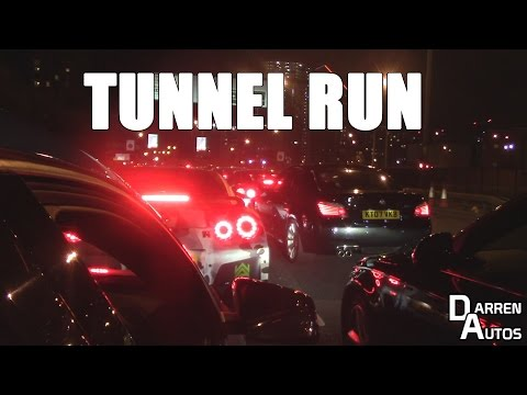 Exotic cars of London INSANE January tunnel run!!