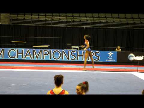 Gabrielle Douglas - 2012 Kellogg&#039;s Pacific Rim Championships Podium Training - Floor Exercise