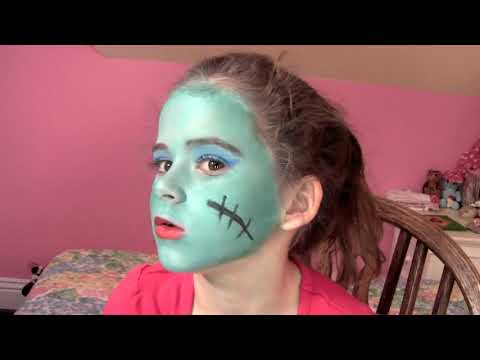 Frankie Stein Monster High Doll Costume Makeup Tutorial for Halloween
