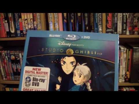Howl's Moving Castle DVD Blu Ray Combo Unboxing
