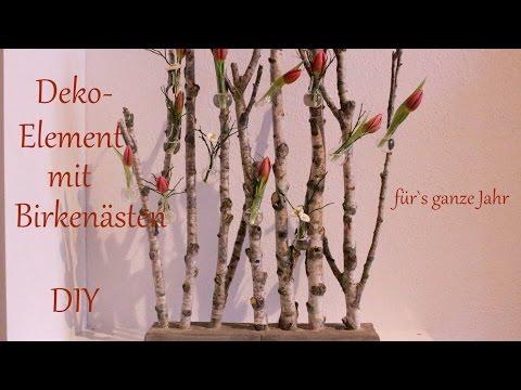 DIY | Deko-Element mit Birkenästen | Raumteiler im Miniformat | Deko für`s ganze Jahr | Just Deko