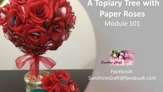 D.I.Y - A topiary tree with paper roses