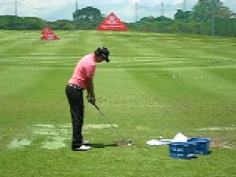 Yani Tseng at the driving range, HSBC Women's Champions tournament, Singapore