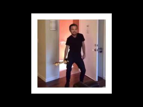 leonardo dicaprio baila con su oscar
