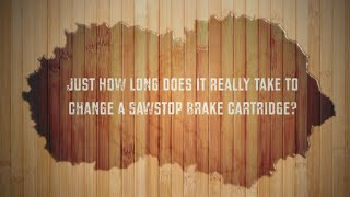 SawStop Brake Cartridge Change