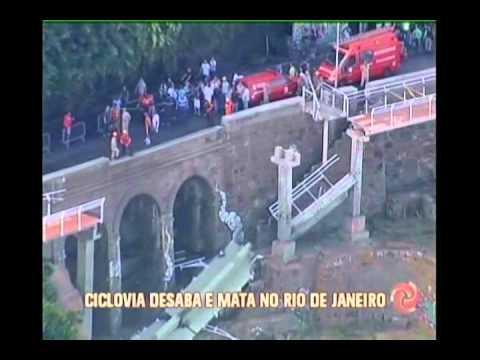 Ciclovia recém-inaugurada desaba e mata duas pessoas no Rio de Janeiro