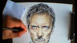 Dr. House ( With Color Pencil ) - Speed Drawing