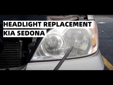 Headlight Replacement   Kia Sedona   02 03 04 05   Lo/High Beams