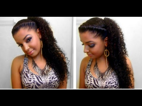 How To :  Easy Quick Cute Twist Side Natural Curly Hairstyle: Classic Chic Elegant Hair Style