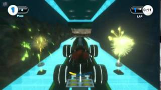Wreck-It Ralph - HD Disney Infinity Tron Inspired Race Track Featuring Wreck It Ralph  New Tron Background