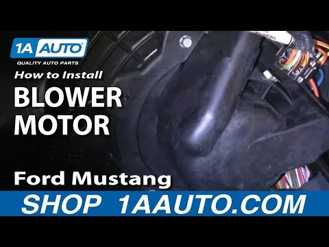 How To Install Replace Squeaking Groaning AC Heater Fan Ford Mustang 94-04 1AAut