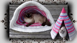 DIY 😻 2 in 1 Outdoor Häkel Muschel & Zelt für Katzen | crochet shell & tent for cats