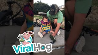 Little Girl's First Fishing Trip || ViralHog