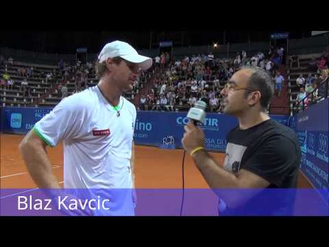 ATP San Marino - On court interview with Blaz Kavcic