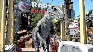 Meeting Blue from Jurassic World at Universal Studios Hollywood Raptor Encounter!