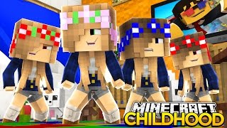 Minecraft Childhood - BABY SISTERS GO TO DAYCARE!