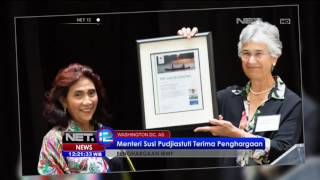 Download Menteri Susi Pudjiastuti Terima Penghargaan WWF di Washington DC - NET12 3Gp Mp4