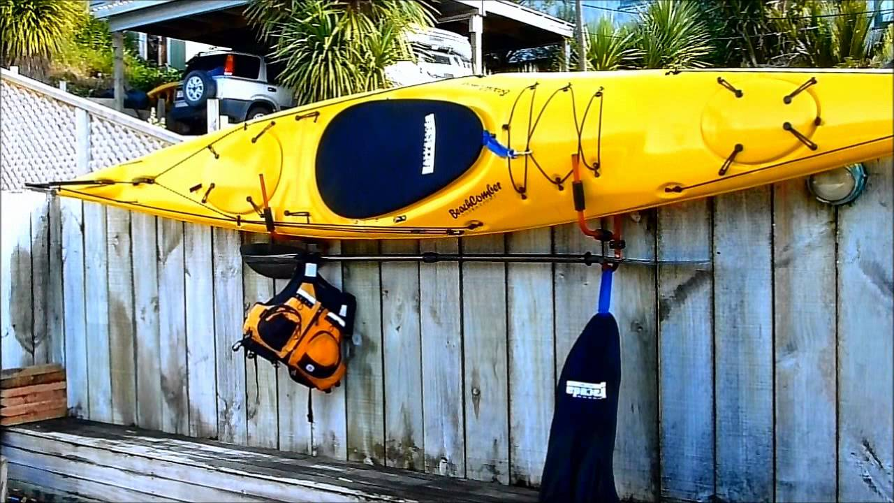 Kayak storage solutions from surf to summit review by - Fabriquer un support mural tv ...