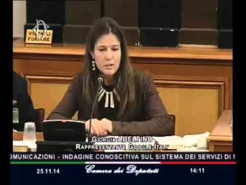 Roma - Radio e televisioni, audizione Google Italy (25.11.14)