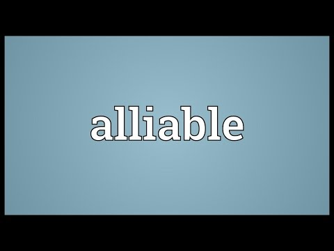 Header of Alliable