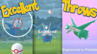 LATIOS Excellent Throws EVERY TIME! How To Hit More Excellent Throws | Pokemon Go