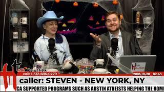 Theist Sorry He Believes in God | Steven - New York, NY | Talk Heathen 02.43