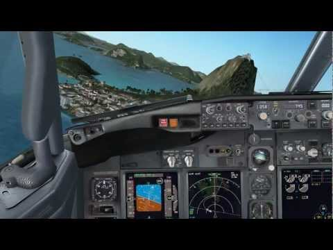 [HD] PMDG - 737NGX - Landing at SBRJ (SFP Test)   Intel Core i7-2600 3.40GHz + Radeon HD 6850