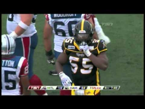 Stevie Baggs hit on Adrian McPherson - September 5, 2011