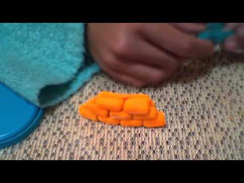 Idea de hacer figuras de plastilina para jugar