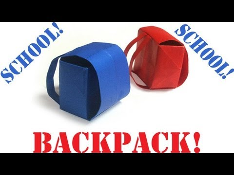 Origami Daily - 399: (Back to School) Backpack - TCGames [HD]