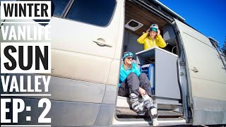 Ep 2: Winter Vanlife is More Than Skiing Powder - Sun Valley| Adventure in a Backpack