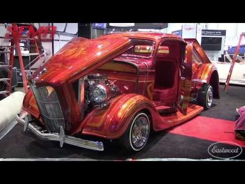 Insane Paint Job at SEMA 2015! Eastwood Hands-On Award Winner Best Paint - 1936 Ford Pickup