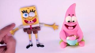 Spongebob Squarepants Clay + Play doh STOP MOTION video --- Bob Esponja Animación