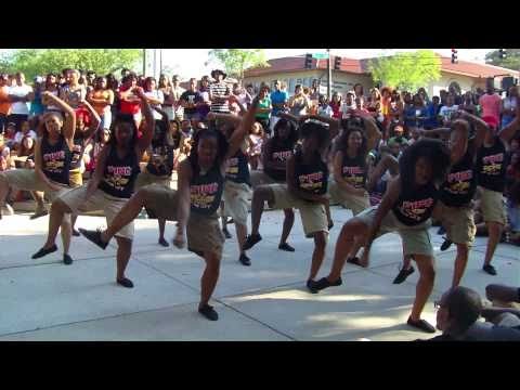 {HD} Delta Sigma Theta as Alpha Phi Alpha - Valdosta State University Mock Stroll Off 2k13