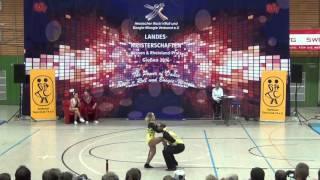 Nadine Stünkel & Sebastian Rott - Landesmeisterschaft Hessen, Rlp, Saarland 2016