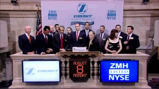8 August 2011 Zimmer Holdings rings the NYSE Closing Bell