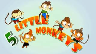 Five Little Monkeys Jumping on the Bed | Compiled Popular Rhymes by Laughingdotskids Nursery Rhymes