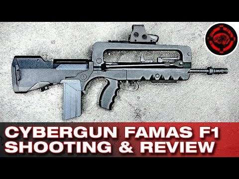 CyberGun FAMAS F1 Review and Shooting Demo