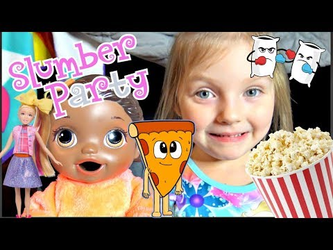 BABY ALIVE has a SLUMBER PARTY with MOMMY! The Lilly and Mommy Show. The TOYTASTIC Sisters thumbnail