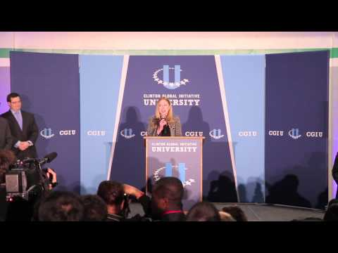 Chelsea Clinton announces The Resolution Project's Social Venture Challenge Winners at CGI U