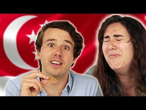 Americans Try Singaporean Food video