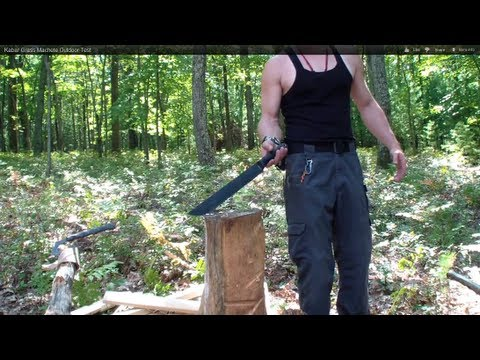 Kabar Grass Machete Outdoor Test