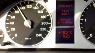 Mercedes B200CDI 80-120KPH 5th Gear