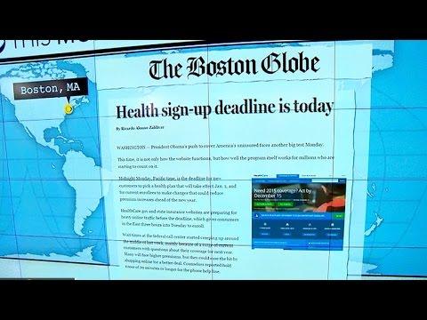 Headlines: Midnight deadline for new users on HealthCare.gov